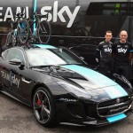 Jaguar F Type Concept Supporting Team Sky in Tour De France