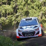 Hyundai Shell World Rally Team gets Rally Finland underway with solid first day
